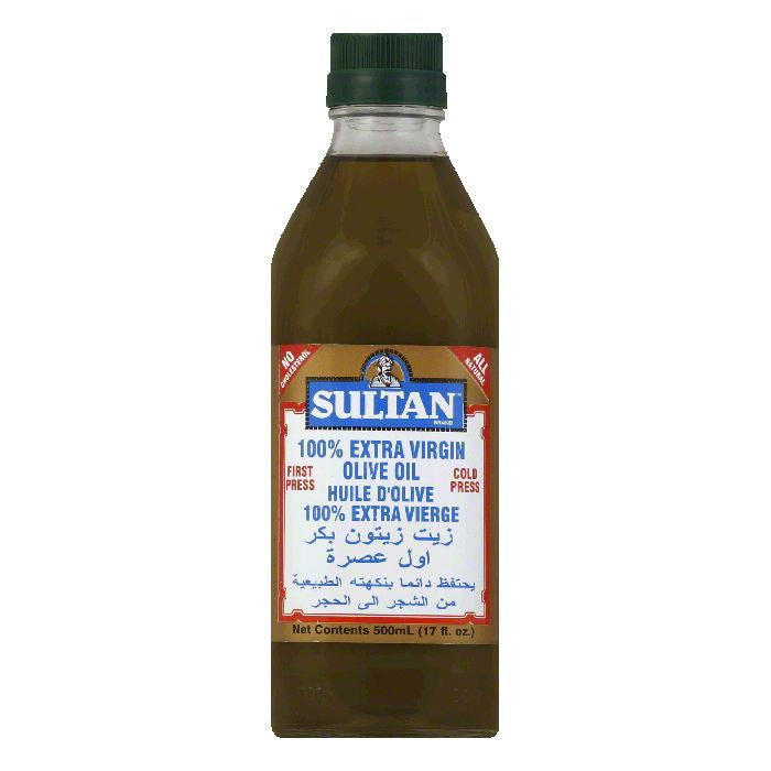 Sultan Olive Oil Extra Virgin, 0.5 LT (Pack of 6)