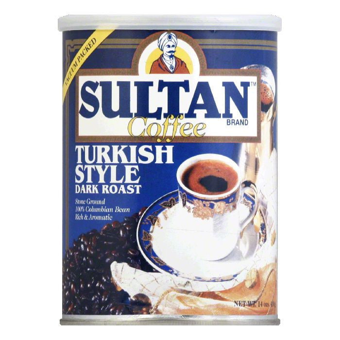 Sultan Coffee Turkish, 14 OZ (Pack of 6)