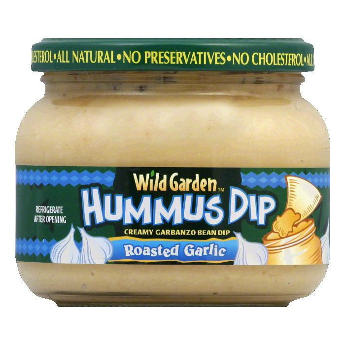 Wild Garden Roasted Garlic Hummus Dip, 13.4 OZ (Pack of 6)