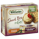 Wild Garden Traditional Hummus/Original Multi-Seed Crackers to Go! Snack Box, 2.26 Oz (Pack of 6)