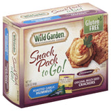 Wild Garden Original Multi-Seed Crackers Roasted Garlic Hummus to Go! Snack Pack, 2.26 Oz (Pack of 6)