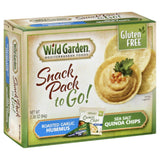 Wild Garden Roasted Garlic Hummus/Sea Salt Quinoa Chips to Go! Snack Pack, 2.26 Oz (Pack of 6)