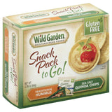 Wild Garden Sea Salt Quinoa Chips Traditional Hummus to Go! Snack Pack, 2.26 Oz (Pack of 6)