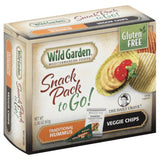 Wild Garden Veggie Chips Traditional Hummus to Go! Snack Pack, 2.36 Oz (Pack of 6)