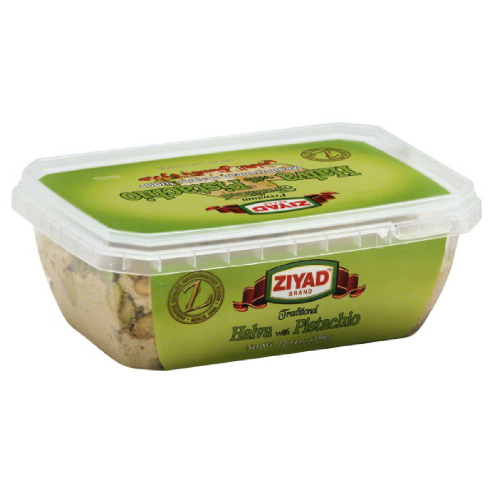 Ziyad Traditional Halva with Pistachio, 12.34 Oz (Pack of 6)