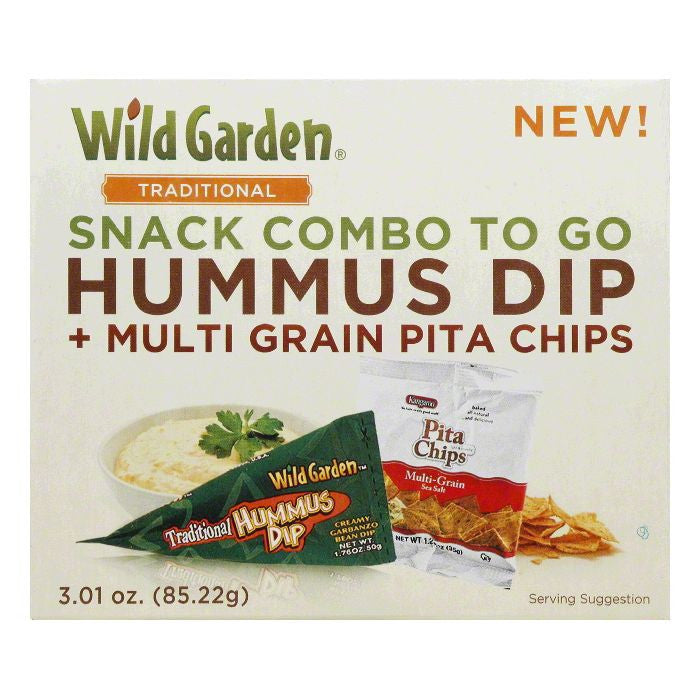 Wild Garden Chip Pita Hummus Combo Traditional, 3.1 OZ (Pack of 6)