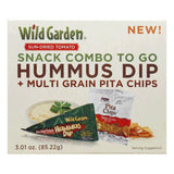 Wild Garden Chip Pita Hummus Combo, 3.1 OZ (Pack of 6)