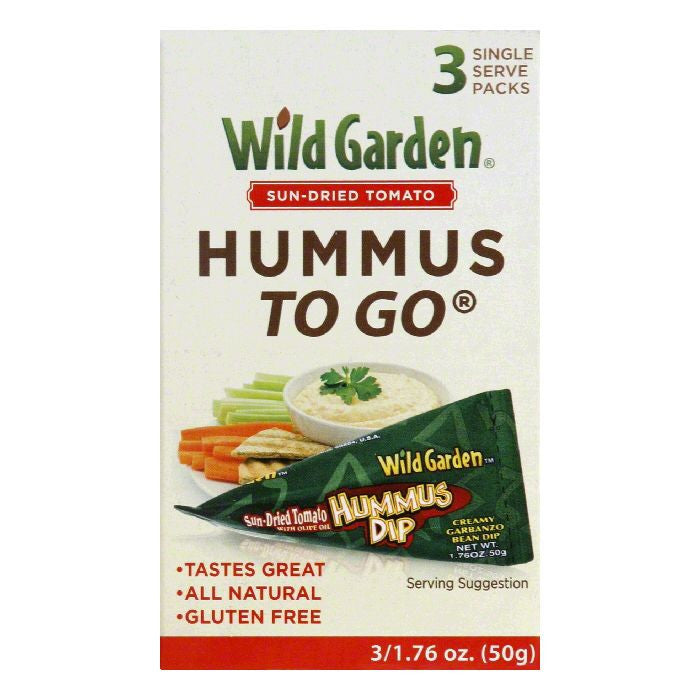 Wild Garden To Go Single Serve Packs Sun-Dried Tomato Hummus Dip, 3 PC (Pack of 9)