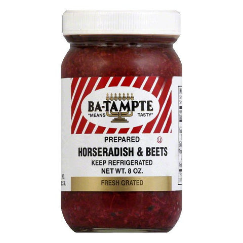 Ba Tampte Fresh Grated Prepared Horseradish & Beets, 8 Oz (Pack of 12)
