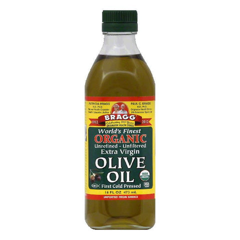 Bragg Organic Extra Virgin Olive Oil, 16 OZ (Pack of 12)