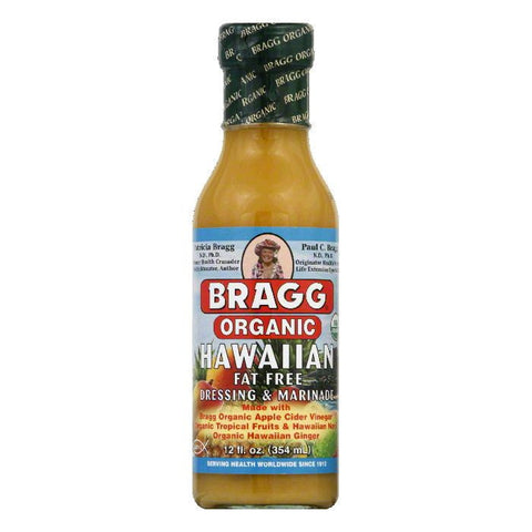 Bragg Organic Hawaiian Dressing & Marinade, 12 FO (Pack of 6)
