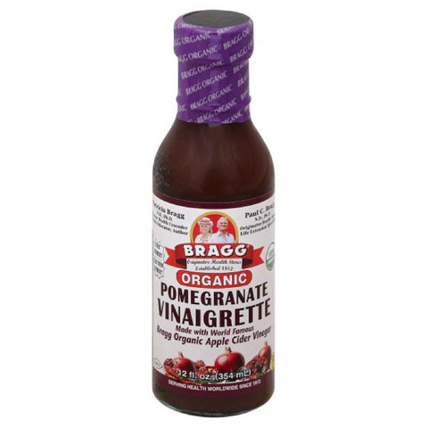Bragg Pomegranate Organic Vinaigrette, 12 Fo (Pack of 6)