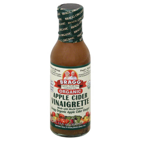 Bragg Apple Cider Organic Vinaigrette, 12 Fo (Pack of 6)