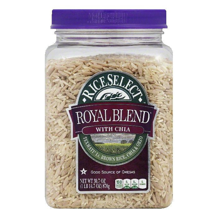 Rice Select with Chia Royal Blend Rice, 30.7 Oz (Pack of 4)
