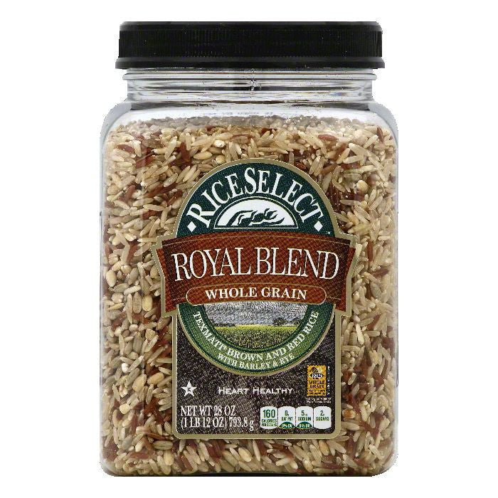 Rice Select Texmati Royal Blend Whole Grain Brown and Red Rice, 28 OZ (Pack of 4)