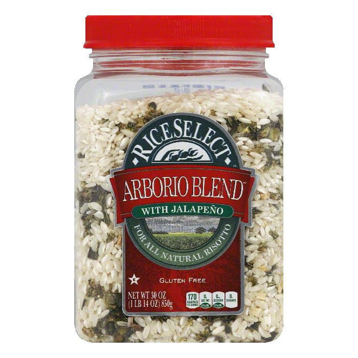 Rice Select with Jalapeno Arborio Blend Rice, 30 Oz (Pack of 4)