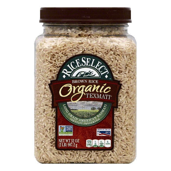 Rice Select Organic Brown Rice Texmati, 32 OZ (Pack of 4)