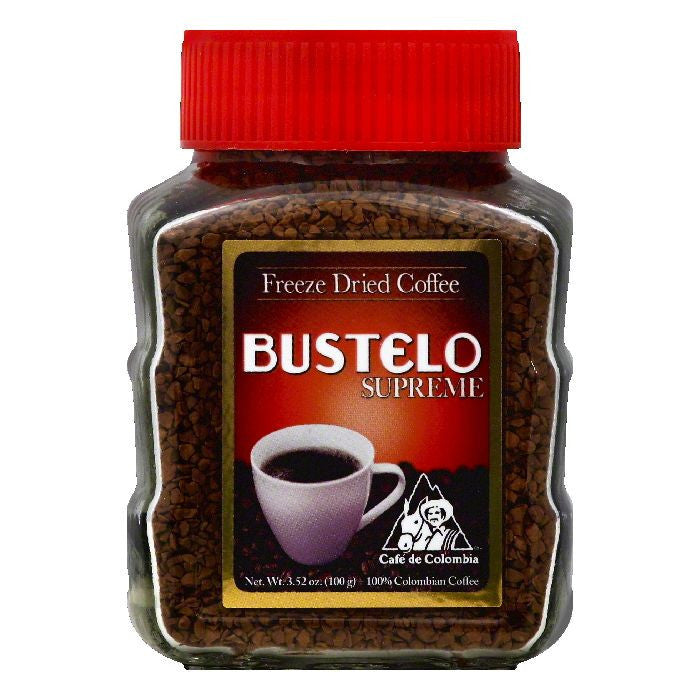 Bustelo Freeze Dried 100% Colombian Coffee, 3.52 OZ (Pack of 12)