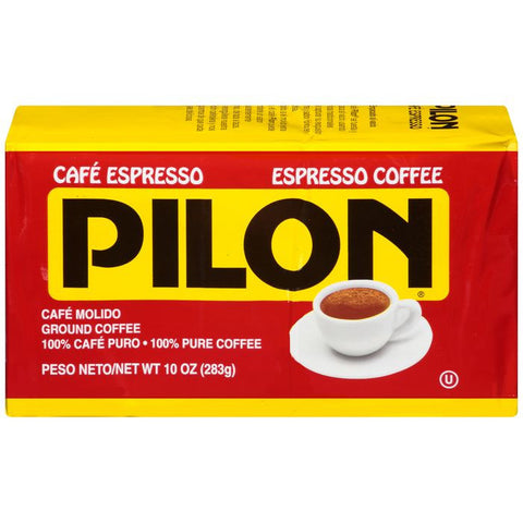 Cafe Pilon Espresso Ground Coffee 10 Oz Brick (Pack of 12)