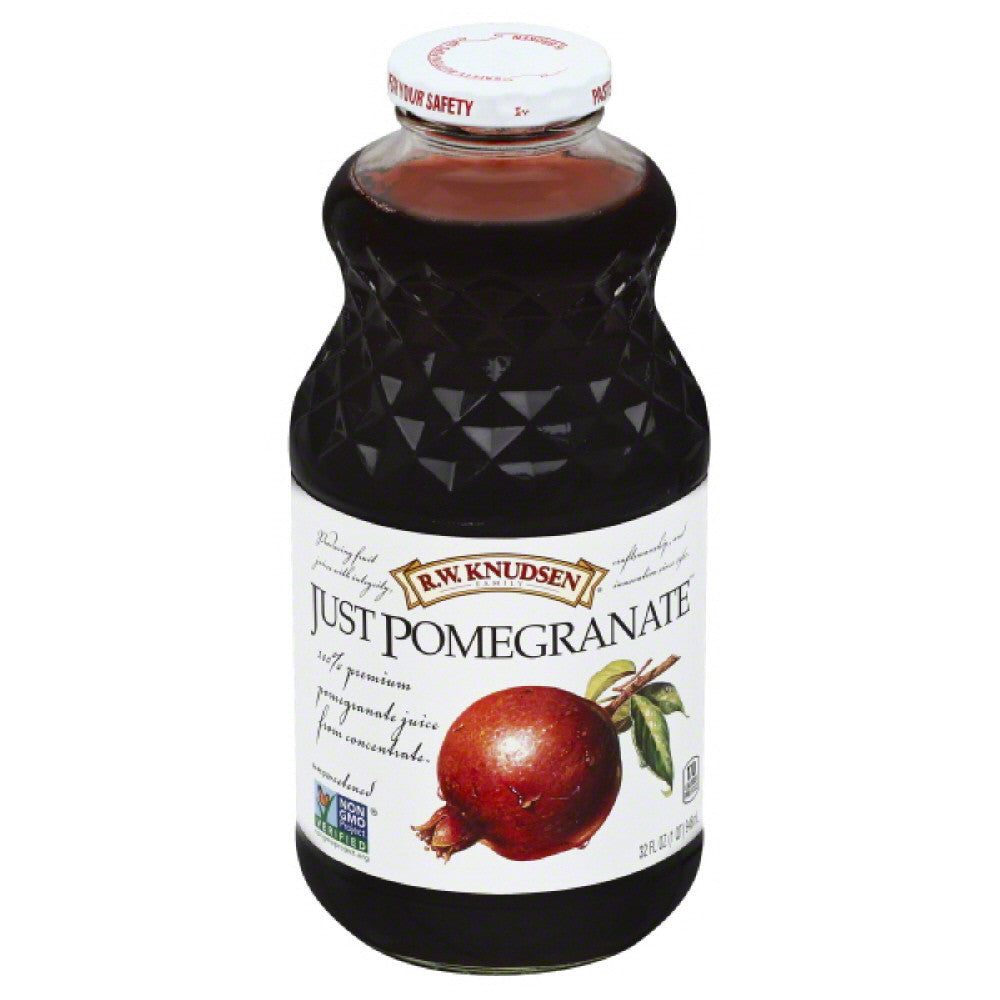 RW Knudsen Just Pomegranate Unsweetened 100% Juice, 32 Fo (Pack of 6)