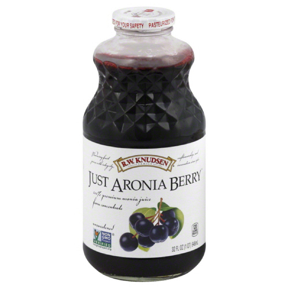 RW Knudsen Just Aronia Berry Unsweetened 100% Juice, 32 Fo (Pack of 12)