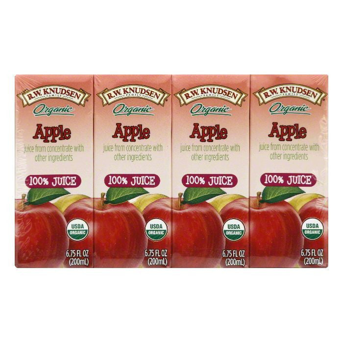 Knudsen Juice Aseptic Apple 4PK, 27 OZ (Pack of 7)