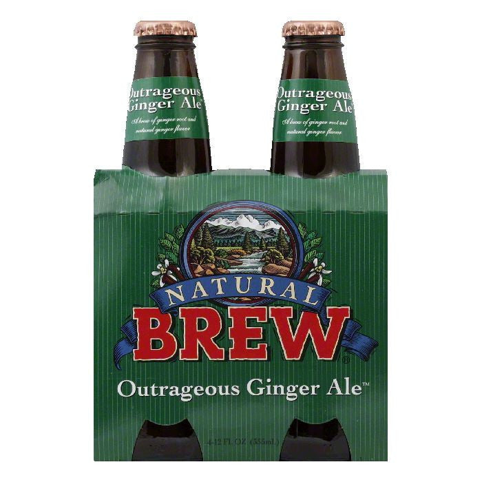 Natural Brew Ginger Ale Outrageous 4 pack, 48 FO (Pack of 6)