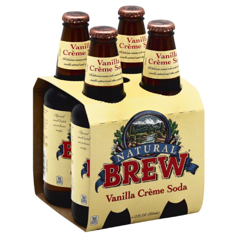 Natural Brew Vanilla Creme Soda, 48 Fo (Pack of 6)
