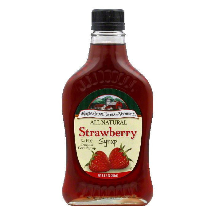 Maple Grove Farms Syrup Natural Strawberry, 8.5 OZ (Pack of 6)