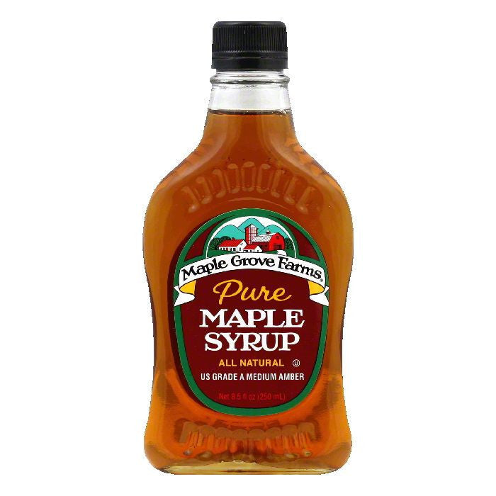 Maple Grove Farms Syrup Pure Maple Medium Amber, 8.5 OZ (Pack of 6)