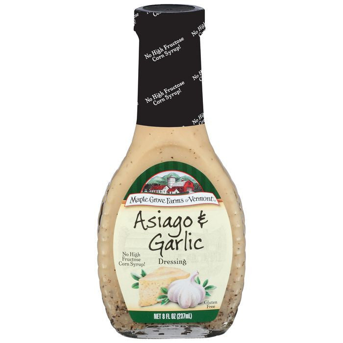 Maple Grove Farms Asiago & Garlic Dressing 8 Oz   (Pack of 6)