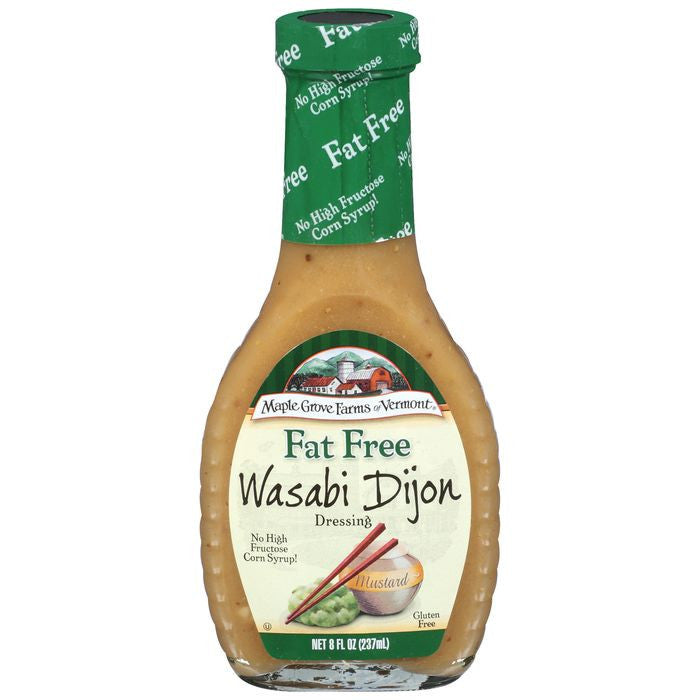 Maple Grove Farms Fat Free Wasabi Dijon Dressing 8 Oz   (Pack of 6)