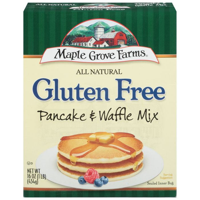 Maple Grove Farms Gluten Free Pancake & Waffle Mix 16 Oz  (Pack of 8)