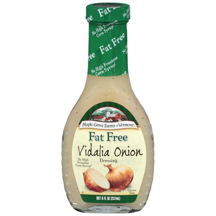 Maple Grove Farms Fat Free Vidalia Onion Dressing 8 Oz   (Pack of 6)