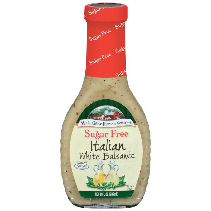 Maple Grove Farms Sugar Free Italian White Balsamic Dressing 8 Oz   (Pack of 6)