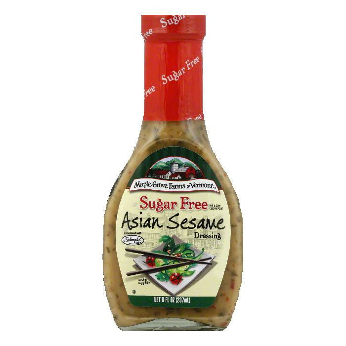 Maple Grove Farms Of Vermont Asian Sesame Sugar Free Dressing, 8 Oz (Pack of 6)