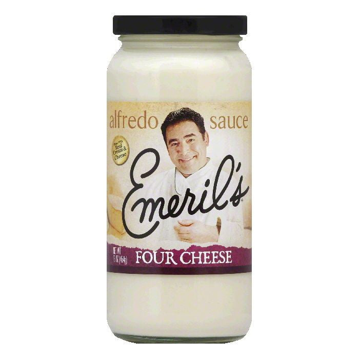 Emerils Four Cheese Alfredo Sauce, 16 Oz (Pack of 6)
