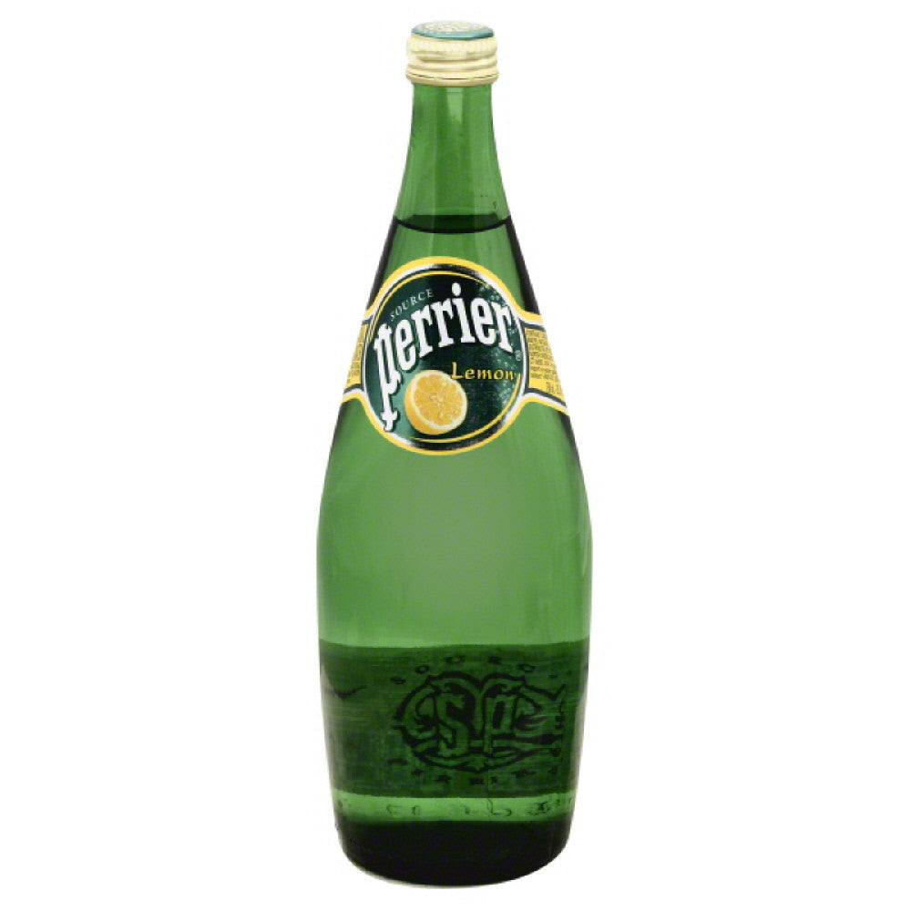 Perrier Lemon Sparkling Natural Mineral Water, 25 Fo (Pack of 12)