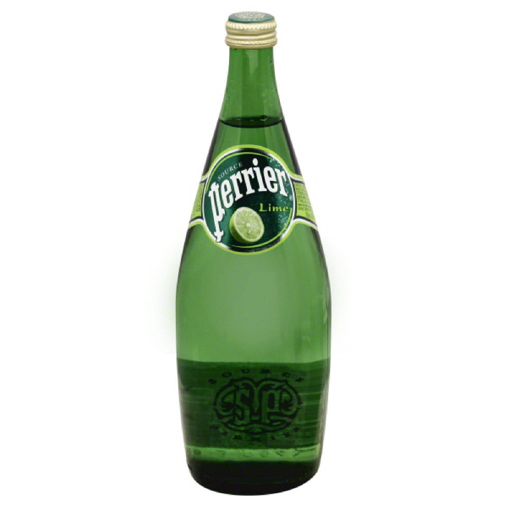 Perrier Lime Sparkling Natural Mineral Water, 25 Fo (Pack of 12)