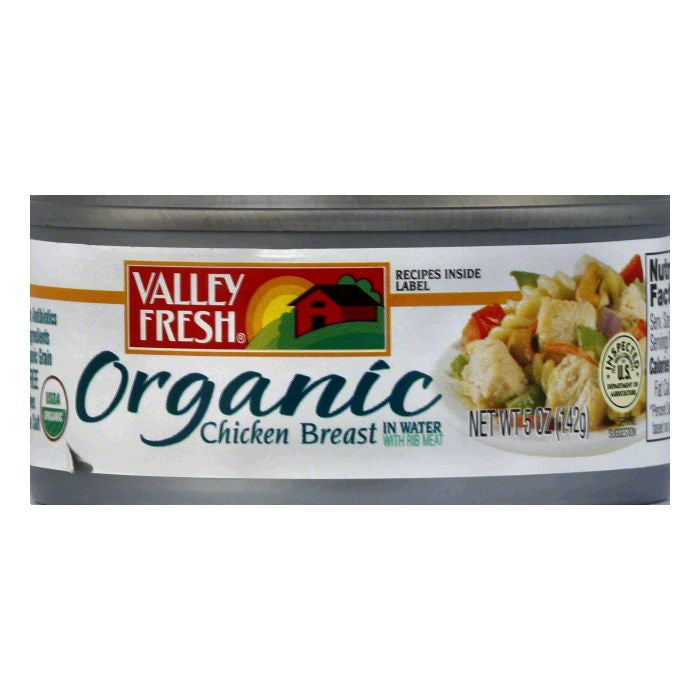 Valley Fresh White Organic Chicken, 5 OZ (Pack of 12)