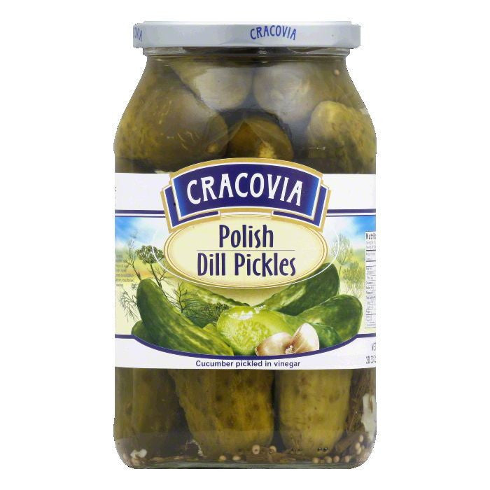 Cracovia Dill Pickles, 31.7 OZ (Pack of 12)