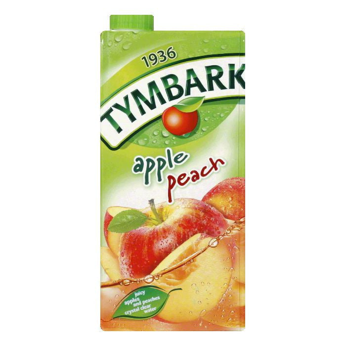 Tymbark Apple Peach Drink, 33.8 Oz (Pack of 12)