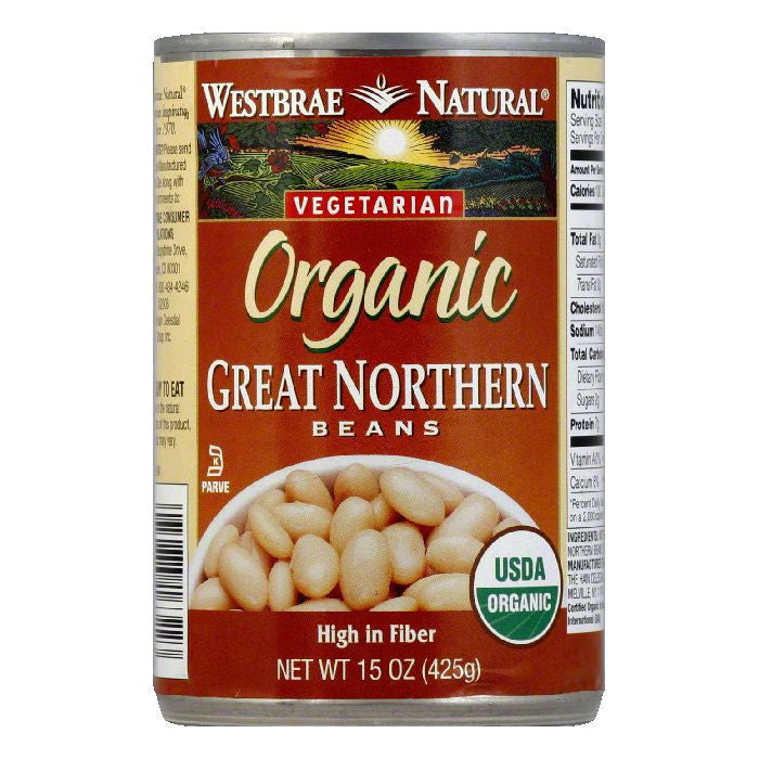 Westbrae Beans Great North Fat Free, 15 OZ (Pack of 6)