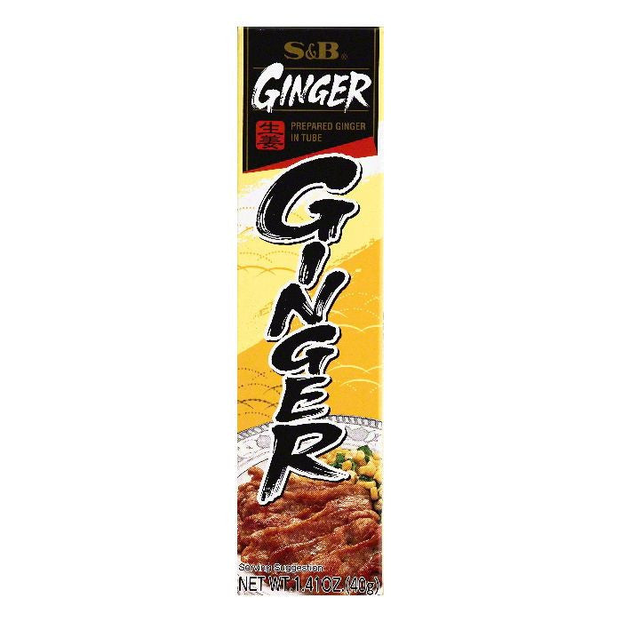 S & B in Tube Prepared Ginger, 1.41 OZ (Pack of 10)