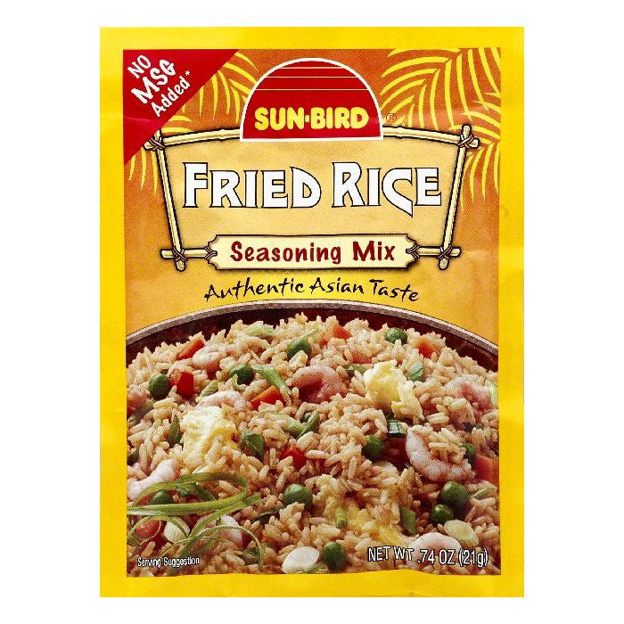Sun Bird Fried Rice Seasoning Mix, 0.74 OZ (Pack of 24)