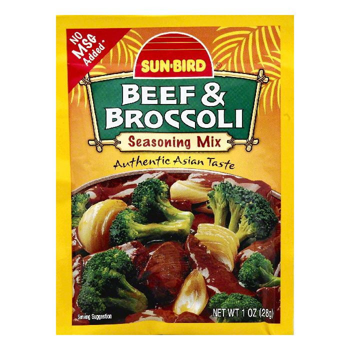 Sun Bird Beef & Broccoli Seasoning Mix, 1 OZ (Pack of 24)