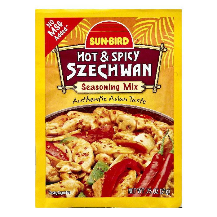 Sun Bird Hot & Spicy Szechwan Seasoning Mix, 0.75 OZ (Pack of 24)