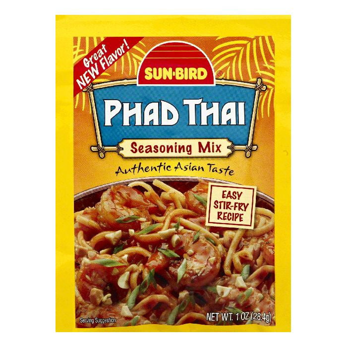 Sun Bird Phad Thai Seasoning Mix, 1 OZ (Pack of 24)