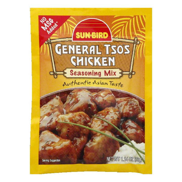 Sun Bird General Tso's Chicken Seasoning Mix, 1.14 OZ (Pack of 24)