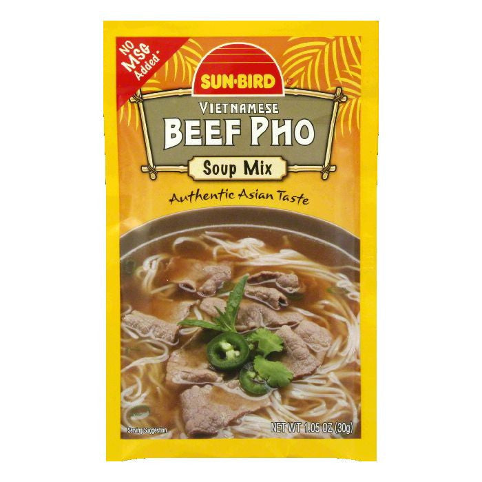 Sun Bird Vietnamese Beef Pho Soup Mix, 1.05 Oz (Pack of 24)